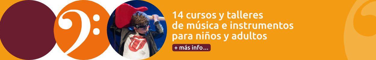 14 cursos de música e instrumentos para niños y adultos