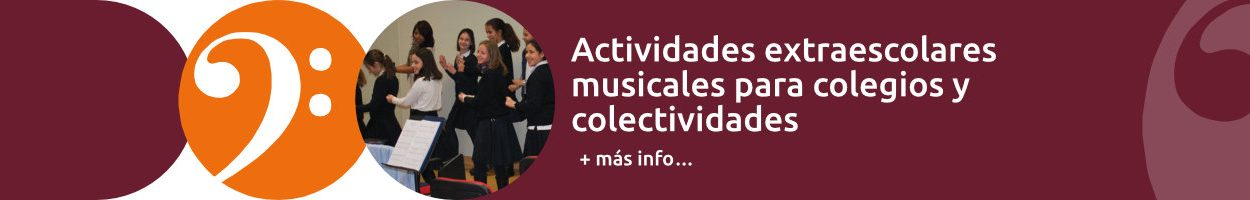 Actividades extraescolares musicales para colegios y colectividades